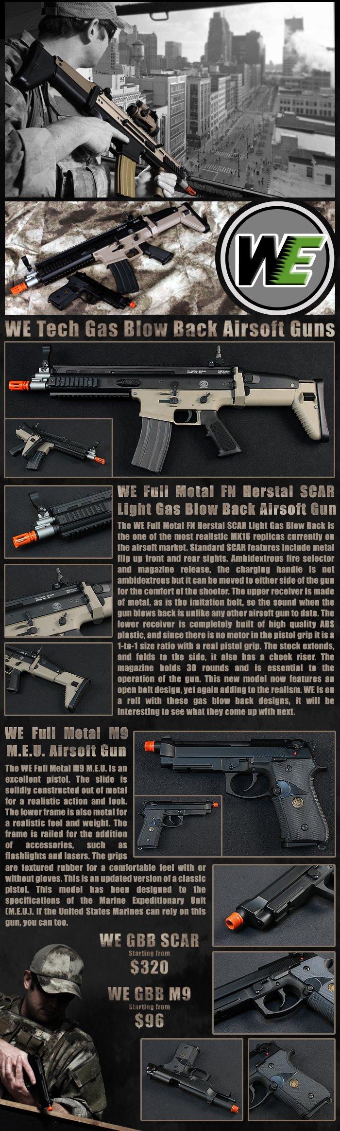 WE GBB SCAR & M9