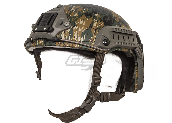 Lancer Tactical Maritime ABS Helmet (Woodland Camo/Medium - Large)