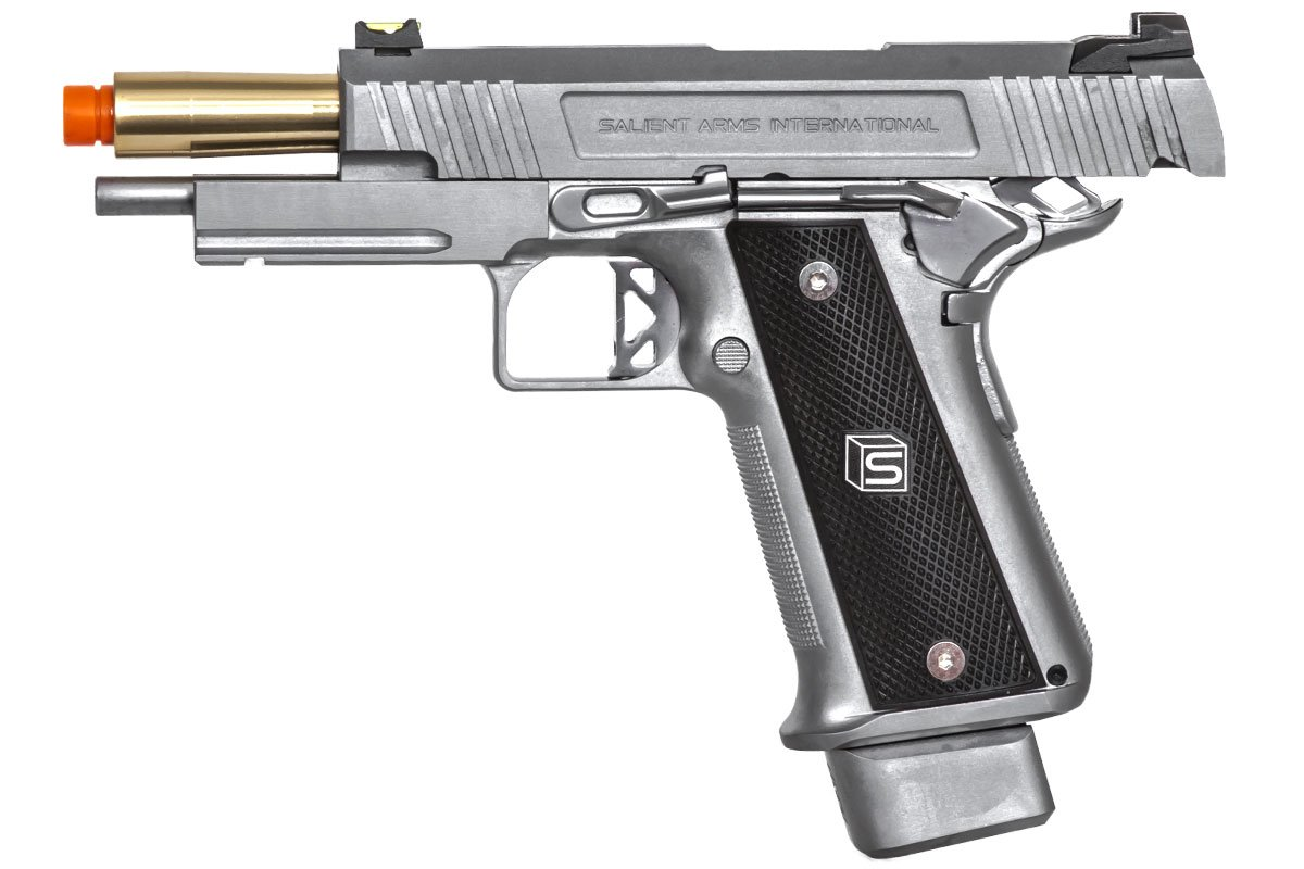 Salient Arms International 2011 DS 4 3 Training GBB Airsoft Pistol (Silver)