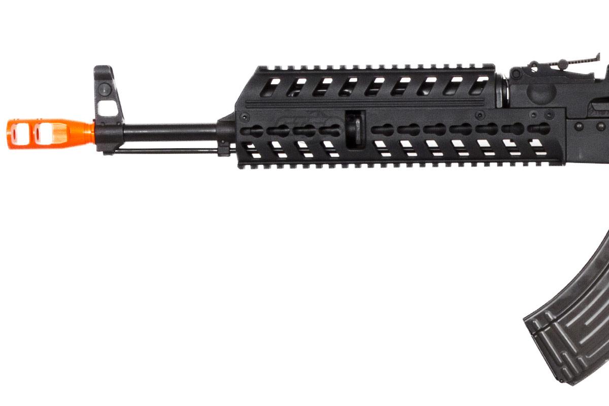 Lancer Tactical LT104B AK47 Tactical Keymod Rifle Blowback AEG Airsoft  Rifle by Lonex (Black)