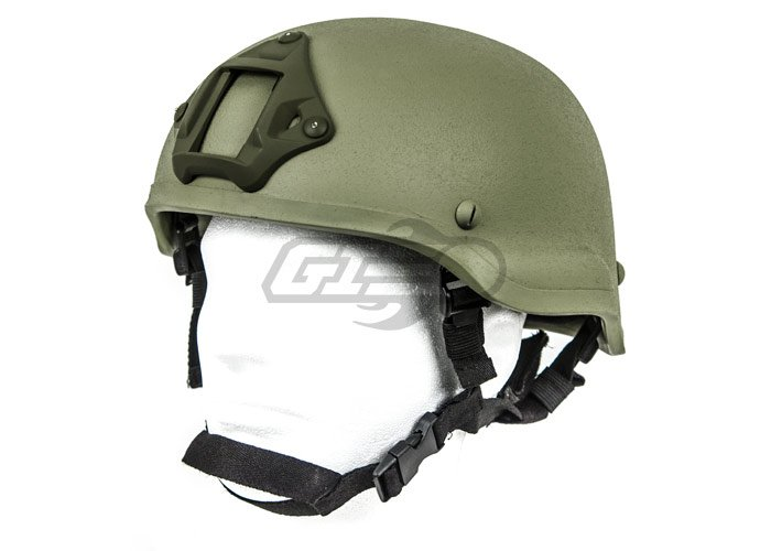 Lancer Tactical MICH 2002 Helmet W/ NVG Mount (Foliage Green)