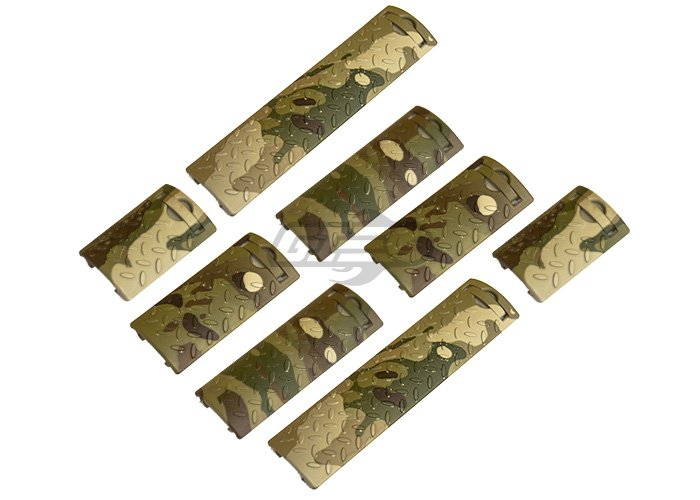 Lancer Tactical Diamond Plate Assorted Rail Cover 8 PC. Set (Camo)