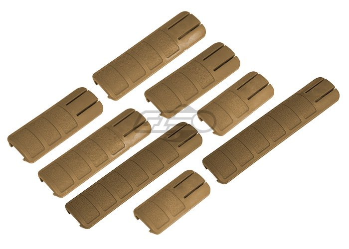 Lancer Tactical DT Assorted Rail Cover 8 PC. Set (Tan)