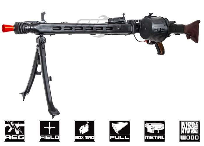 A&K MG42 AEG Airsoft LMG (Black)