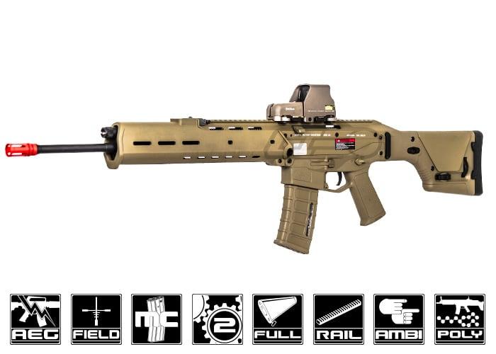 Acr Airsoft Gun a&k magpul masada acr spr aeg airsoft rifle ( tan )