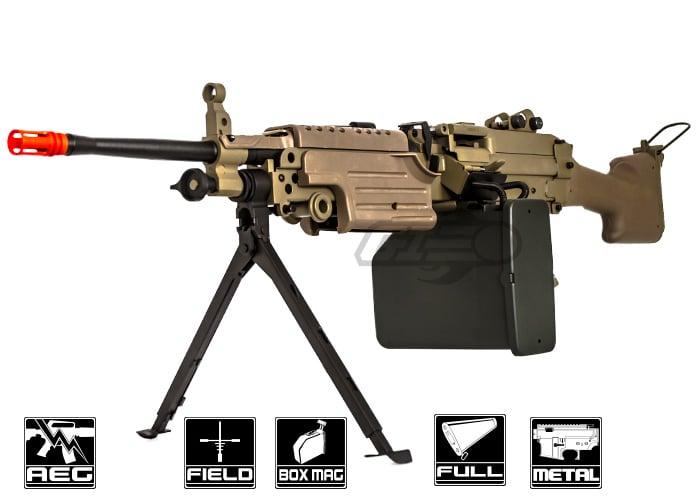 airsoft ak m249 mk2 tan a desert m249 mkii lmg aeg airsoft gun ( tan ) A&K M249 Mkii at edmiracle.co