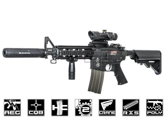 Ares S Class M4 Cqb Ris Carbine Aeg Airsoft Gun Black