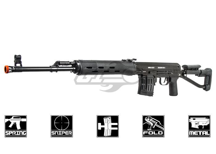 ASG Dragunov SVD-S Bolt Action Spring Sniper Rifle Airsoft ...