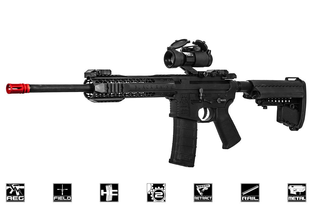 Black Rain Ordnance Fallout 15 Urban Battle Rifle AEG Airsoft Gun by King Arms