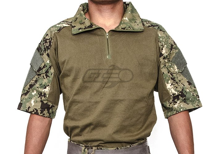 Lancer Tactical Gen 2 Combat Short Sleeve Shirt (Woodland Digital/XS)