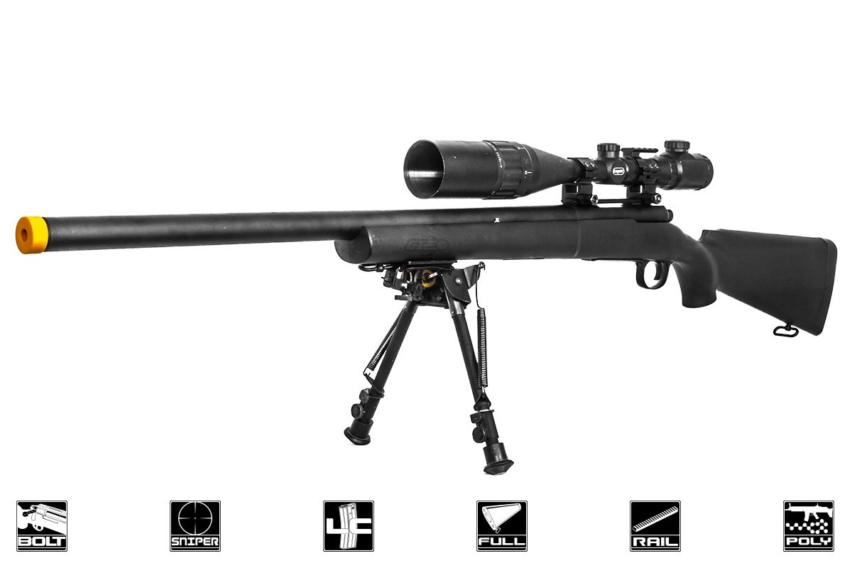 Classic Army M24 LTR Bolt Action Spring Sniper Airsoft Rifle ( Black )