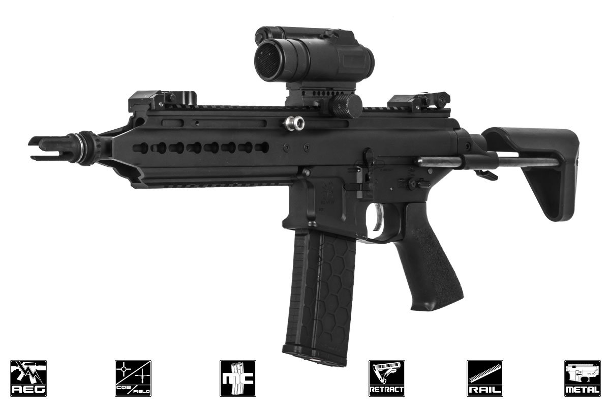 Classic Army Scarab Sar Carbine Aeg Airsoft Rifle Black Factory