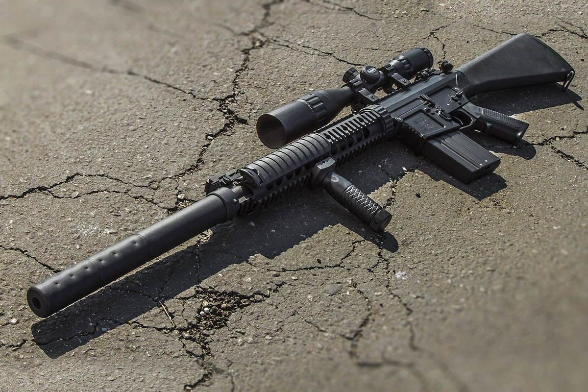 M110 Sniper Rifle Airsoft Classic Army ECS M110 ...