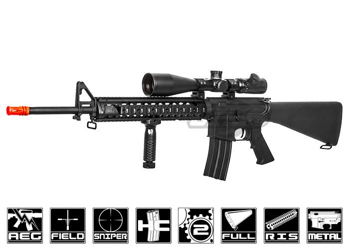 cyma cm009a4 m16a4 ris aeg airsoft rifle black