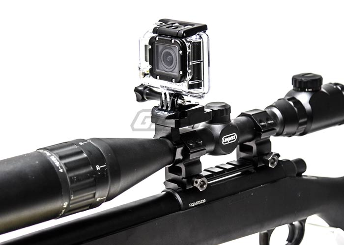 Capture Your Hunt Rifle Scope Mount W Keeper For Gopro