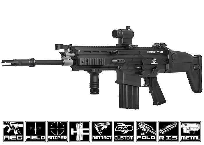 Airsoft GI - Custom VFC SCAR-L with Primary Weapon System SRX Rail ...