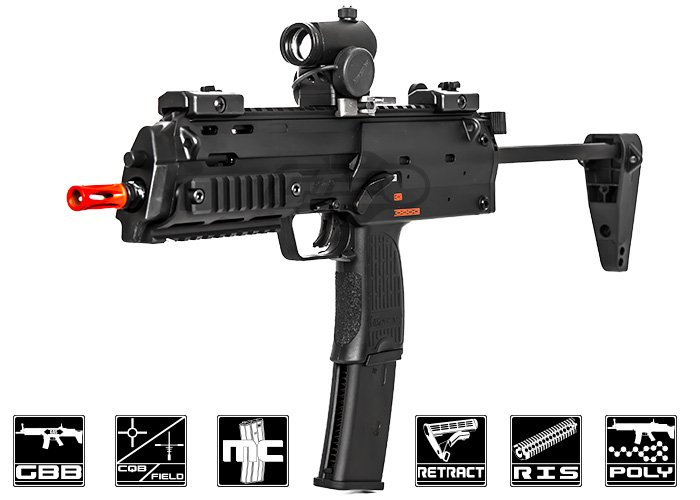 Elite Force H&K MP7 Navy GBB Airsoft SMG by VFC (Black)