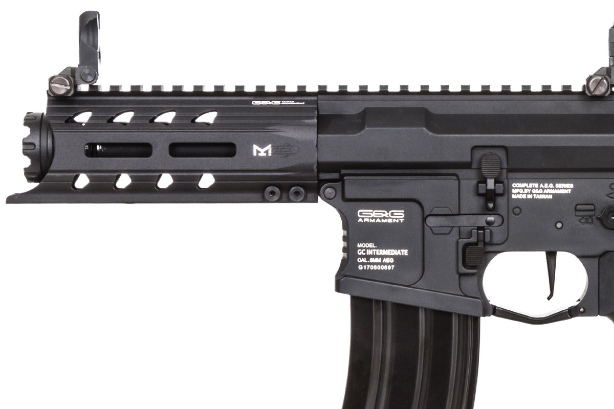 G&G Combat Machine ARP 556 CQB AEG Airsoft Rifle (Black/Battery & Charger  Package)