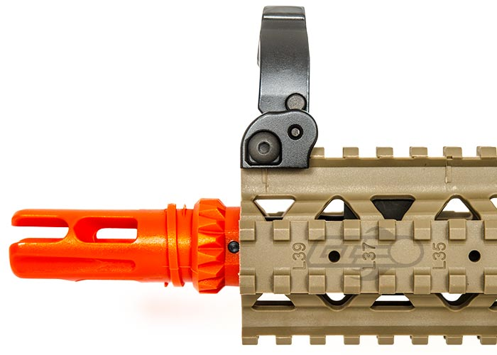 Valken V12 MK18 MOD 1 M4 Carbine HPA Airsoft Rifle By Combat Machine  (Tan/Black)