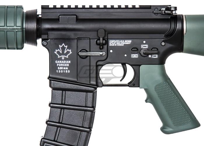 g g combat machine gc7a1 aeg airsoft rifle black od green