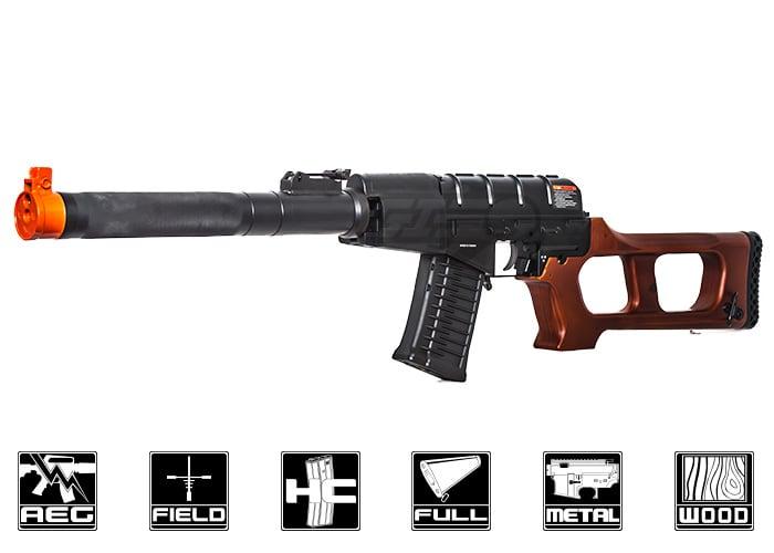 Flambant neuf G&G GSS VSS Vintorez AEG Airsoft Rifle ( Black / Wood ) EG53