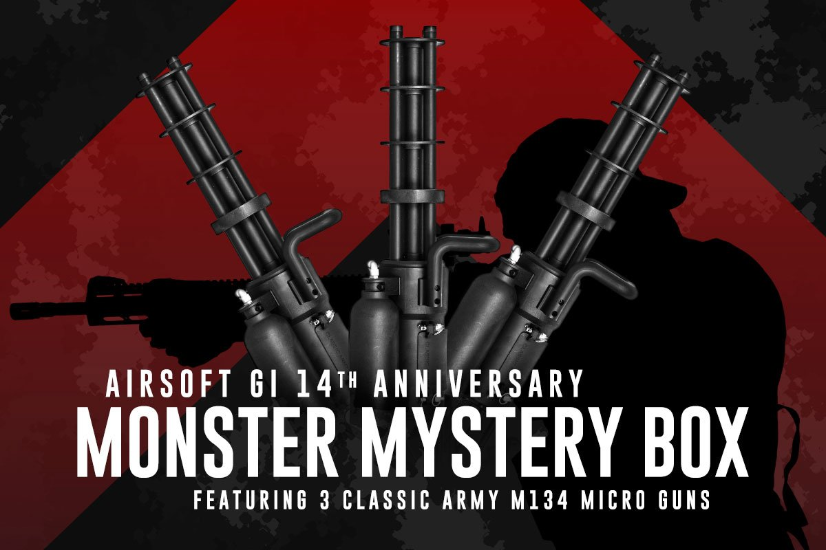 Airsoft GI 14th Anniversary Monster Mystery Box: featuring 3 Classic Army M132 Microgun Airsoft Gun