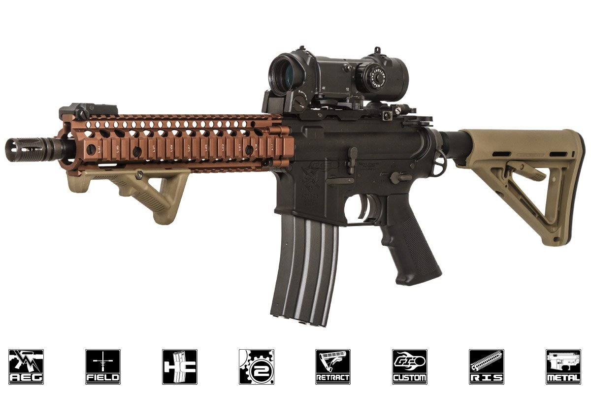 Airsoft GI Custom DD MK18 MOD Carbine AEG Airsoft Gun By