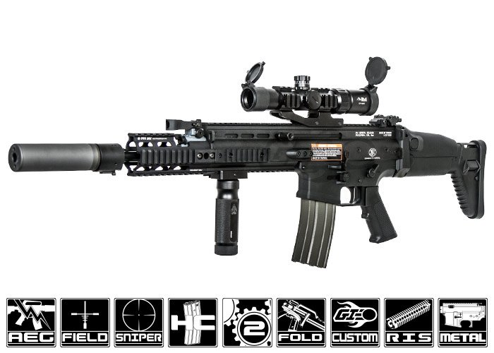 FN Herstal SCAR-H MK17 STD Carbine AEG Airsoft Gun by VFC ( Tan ) by: