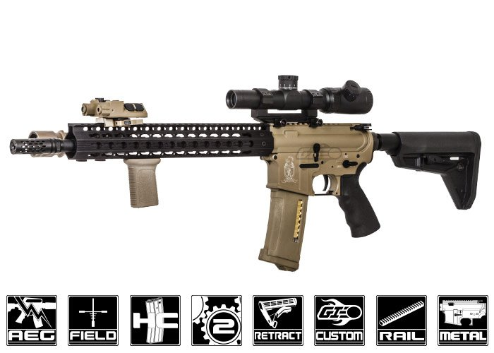 Airsoft guns assault rifles