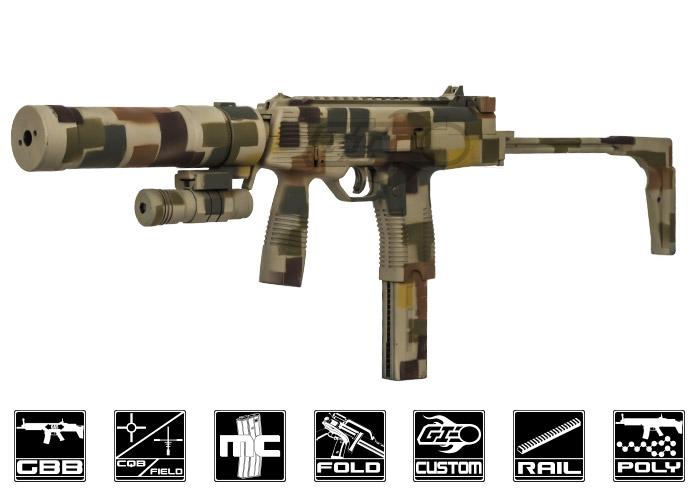 Airsoft GI Custom MP9 Siege GBB Airsoft SMG