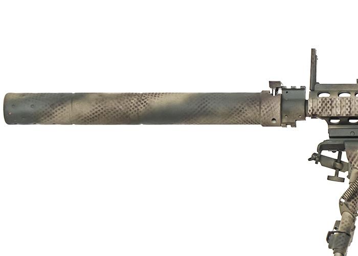 Airsoft GI Custom SR 25 Unseen AEG Gun Black Card