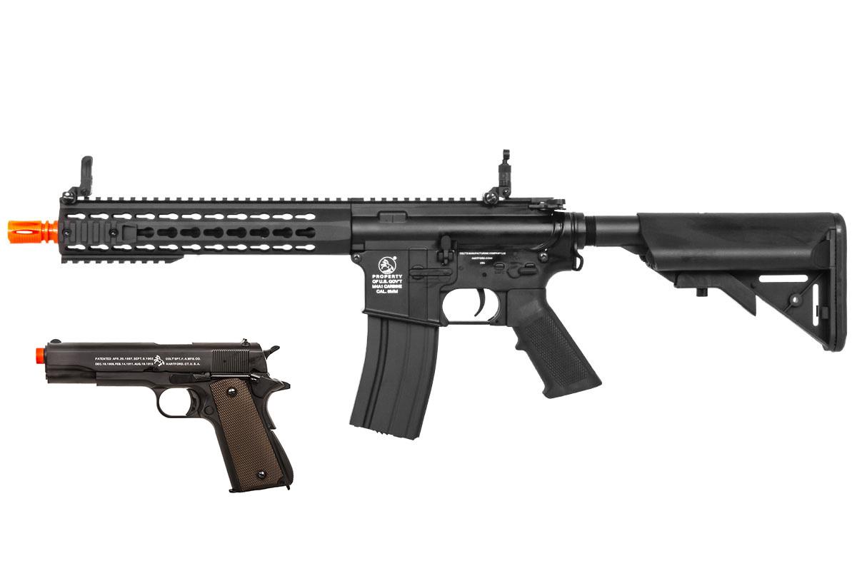 Colt M4 Short 10 Keymod Carbine Aeg 1911 Gbb Airsoft Rifle Model 1911a1 Parts Diagram Combo Pack