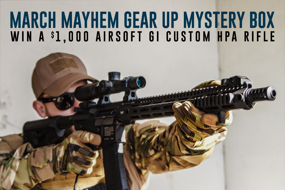 March Mayhem Gear Up Mystery Box Win a $1000 ASGI Custom HPA Rifle