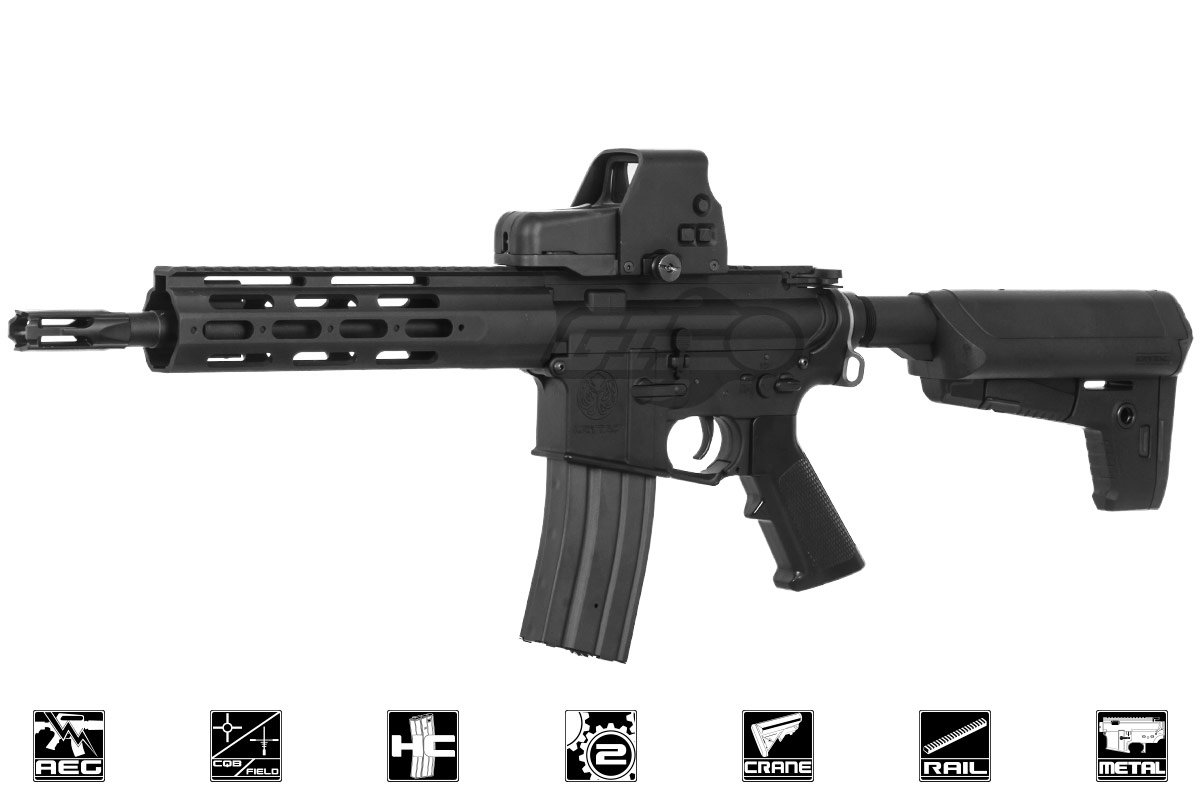 krytac alpha crb m4 carbine aeg airsoft rifle black