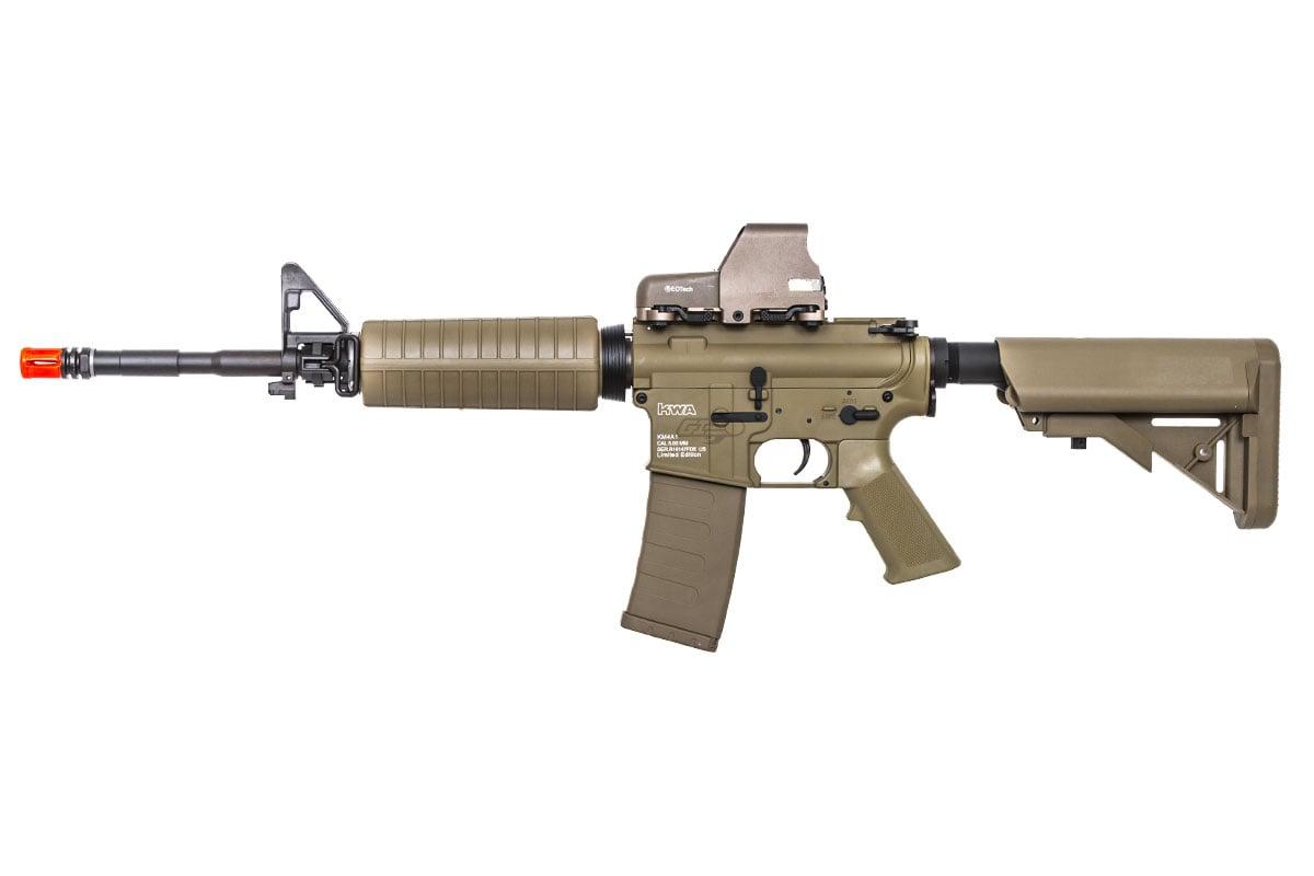 KWA KM4 A1 Carbine M4 AEG Carbine Airsoft Gun ( Flat Dark Earth )