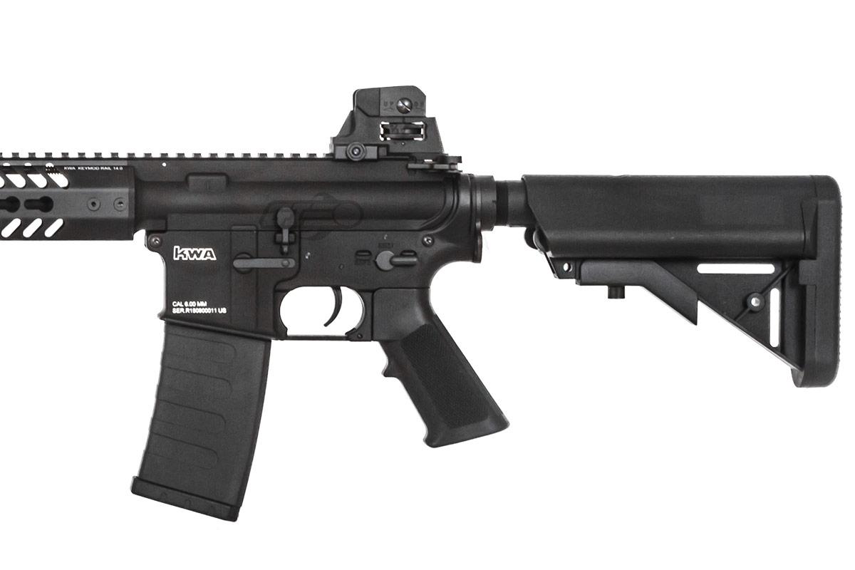 KWA KM4 KR14 Keymod M4 Rifle AEG Airsoft Gun ( Black )