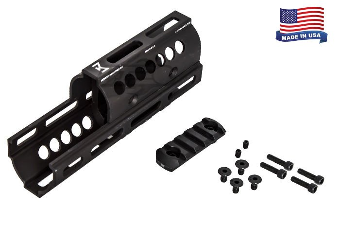Midwest Industries Inc  AK M-LOK Real Firearm Handguard (Black)