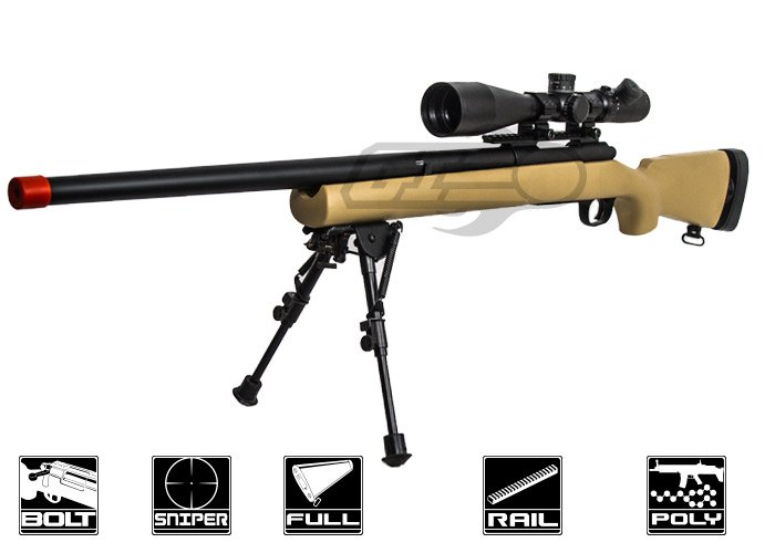 Modify M24 Bolt Action Spring Sniper Rifle Airsoft Gun Tan