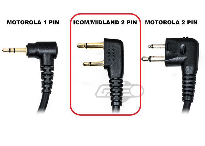 lancer tactical 03 style u94 icom midland cobra 2 pin version ptt black