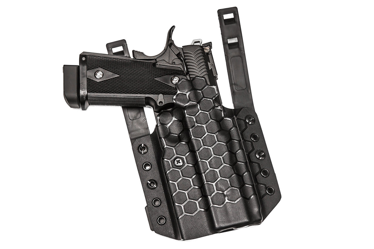 Redline Pro Gear Battle Hex Kydex Holster for TM 5 1 Hi Capa/1911 (Black)