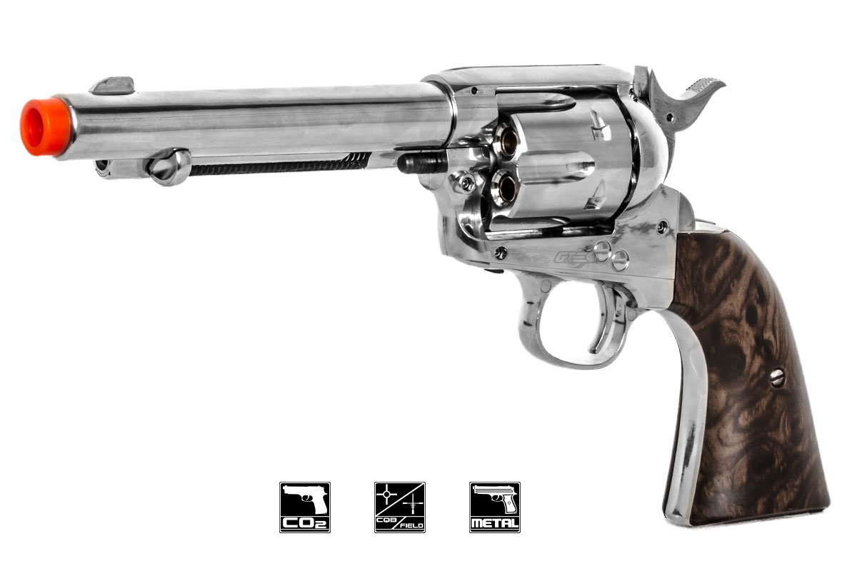Elite Force Legends Smoke Wagon Co2 Revolver Airsoft Pistol (Silver)