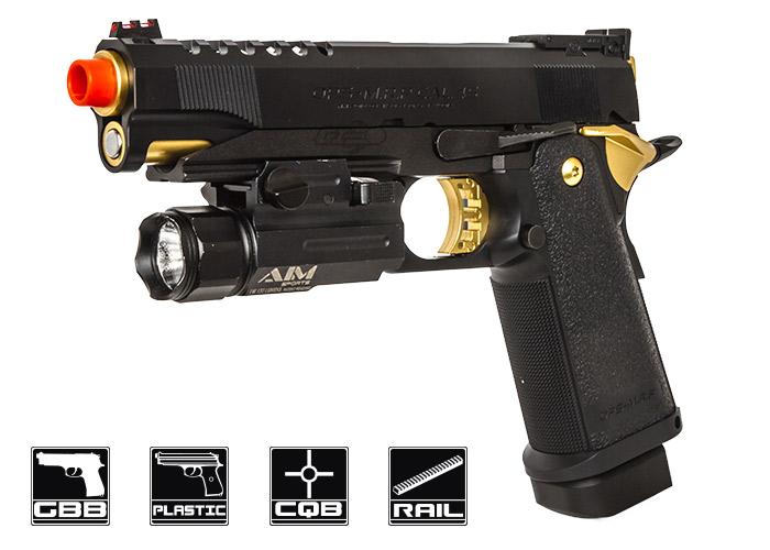 Tokyo Marui High Capa 5.1 Gold Match GBB Airsoft Gun by ...