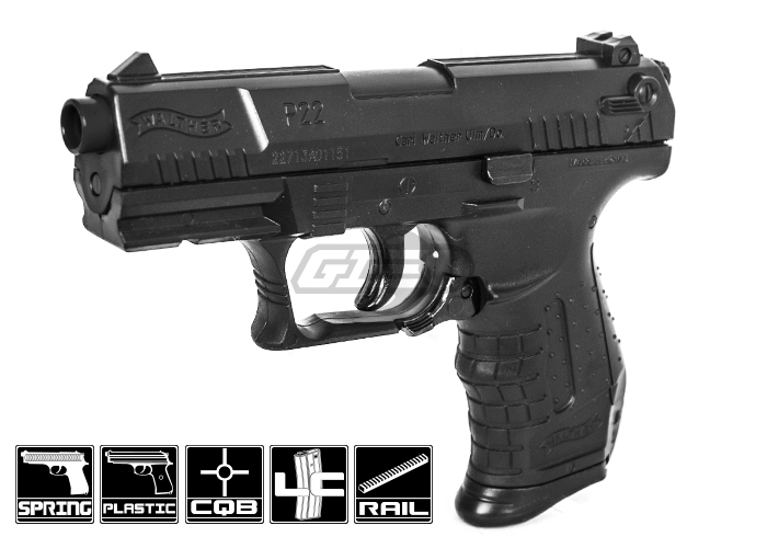 Elite Force Walther P22 Spring Airsoft Pistol (Black)