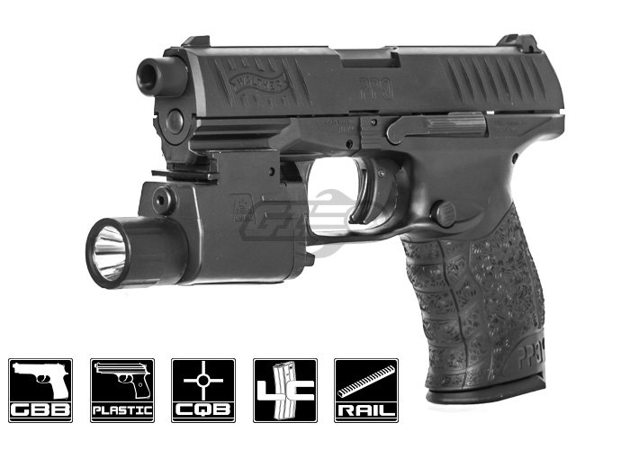 Elite Force Walther PPQ Mod 2 GBB Airsoft Pistol (Black)