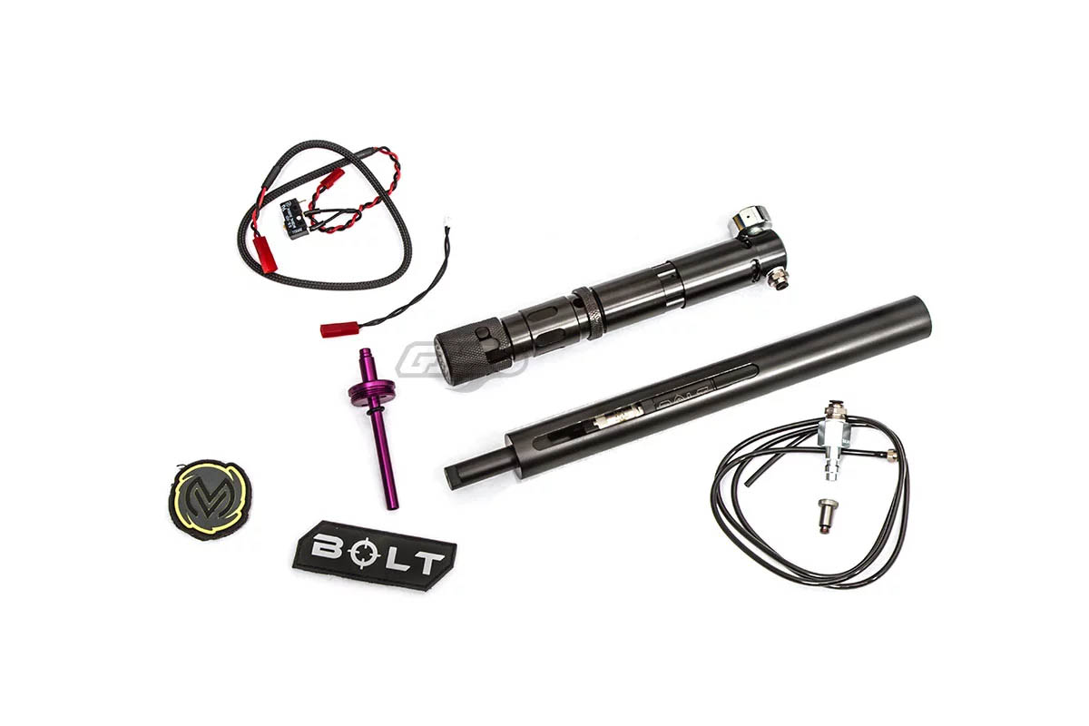 Wolverine Airsoft BOLT Action Sniper Rifle Ultimate HPA Package (BOLT w/  Cylinder, STORM HP Regulator, WRAITH CO2 Adapter)