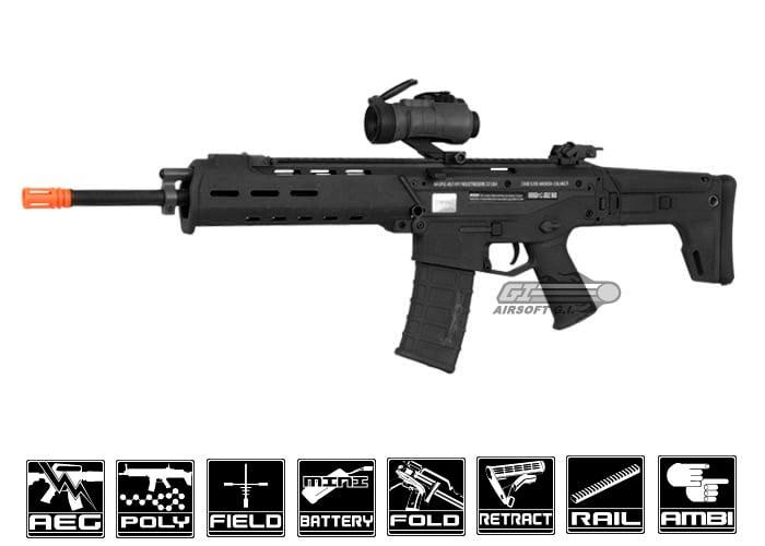 Acr Airsoft Gun a&k magpul masada acr carbine aeg airsoft rifle ( black )