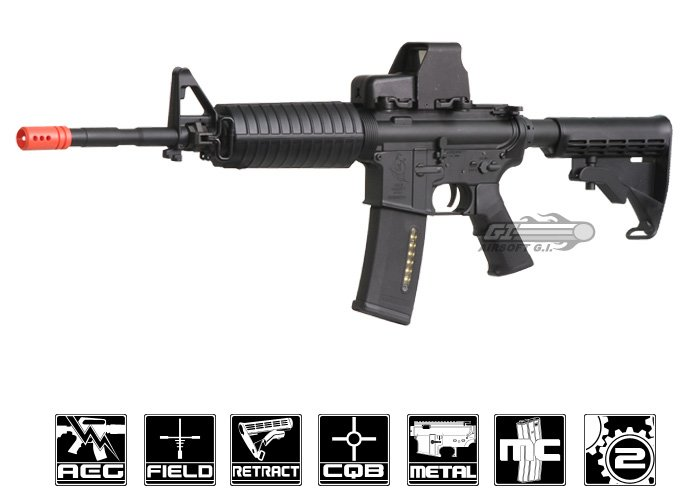 Excellent Ares M4A1 Carbine AEG Airsoft Rifle ( Black ) UH28