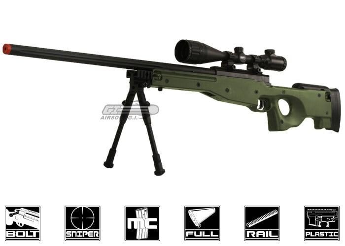 Bravo MK98 Bolt Action Sniper Airsoft Rifle w/ Bipod (OD Green)