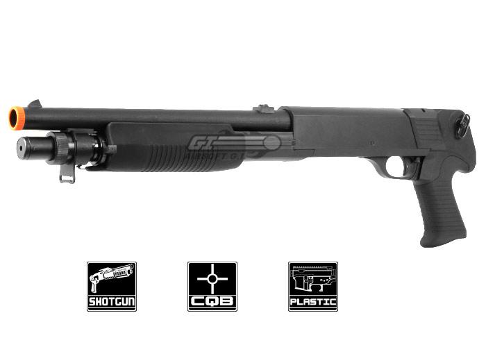 double eagle m3 pistol grip multi shot spring airsoft shotgun black