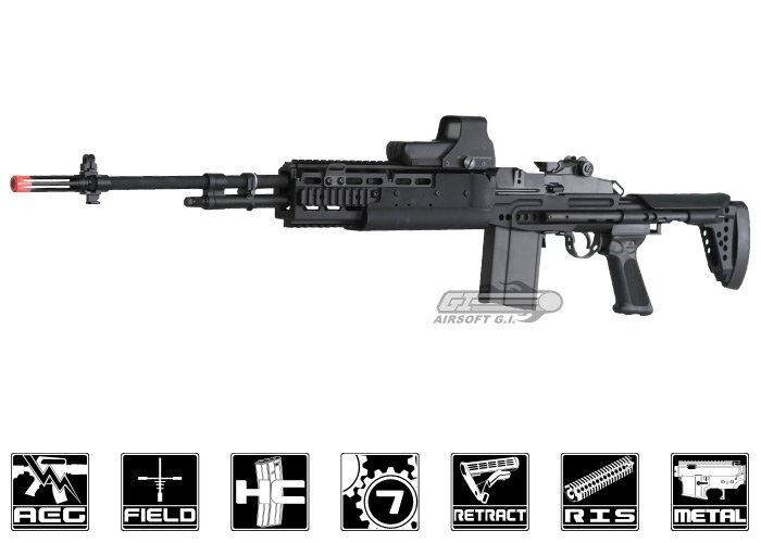 G&G M14 EBR / HBA Long Sniper Rifle AEG Airsoft Rifle ... M14 Ebr Airsoft